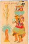 Click here to enlarge image and see more about item p30064: Yucca Kachina Postcard p30064