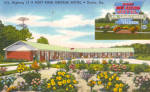 Fort King George Motel  Darien GA Postcard p30126