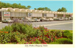 Click here to enlarge image and see more about item p30130: Gala Shopping Center, Jekyll Island, GA, Cars 50s,60s