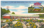 Fort King George Motel Darien GA Postcard p30204