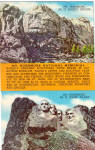 Click here to enlarge image and see more about item p30261: Mt Rushmore Before and After