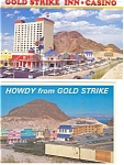 Click here to enlarge image and see more about item p3041:  Gold Strike NV Casinos Postcard  Lot 2