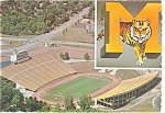 Click here to enlarge image and see more about item p3044:  University of Missouri Stadium Columbia MO  Postcard p3044