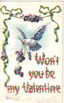Click here to enlarge image and see more about item p30517: Valentines Vintage Postcard p30517 1907