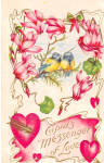 Click here to enlarge image and see more about item p30535: Valentines Vintage Postcard p30535 1909