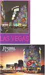 Click here to enlarge image and see more about item p3054: Riviera Casino Las Vegas NV  Postcard  Lot 2
