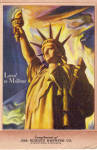Click here to enlarge image and see more about item p30589: Statue of Liberty Jos Schlitz Brewing Co Postcard p30589