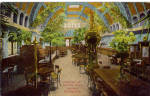 Click here to enlarge image and see more about item p30591:  Jos Schlitz Brewing Co. Palm Garden Interior Milwaukee,WI