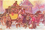 Click here to enlarge image and see more about item p3063:  The Christmas Coach Postcard   J.L.G.Ferris