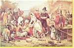 Click here to enlarge image and see more about item p3066: The First Thanksgiving Postcard   J.L.G.Ferri