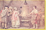 Click here to enlarge image and see more about item p3067: The Liberty Bell First Note Postcard p3067   Ferris