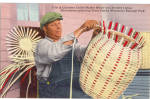 Click here to enlarge image and see more about item p30685: Cherokee Indian Basket Maker  Cherokee Indian Reservation p30685