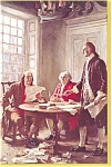 Click here to enlarge image and see more about item p3068: Jefferson,Adams,Franklin Postcard   Ferris