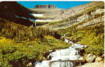 Click here to enlarge image and see more about item p30706: Waterfall Glacier National Park MT p30706