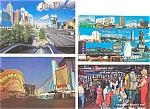 Click here to enlarge image and see more about item p3072:  Las Vegas Street Scenes Postcard  Lot 9