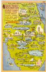 Click here to enlarge image and see more about item p30745: Map of Florida Attractions