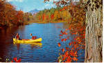 Click here to enlarge image and see more about item p30776: Canoeing on an Autumn Day Postcard p30776