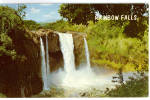 Click here to enlarge image and see more about item p30797: Rainbow Falls Hilo Hawaii Postcard p30797