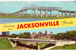 Jacksonville Florida John E Mathews Bridge Skyline p30822