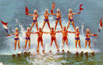 The Ski Show,11 Man Pyramid, Cypress Gardens, Florida