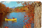 Canoeing on an Autumn Day Postcard p30841