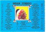 Click here to enlarge image and see more about item p3084: American Indian Symbols Postcard p3084