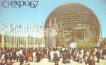 US Pavilion EXPO 67 Montreal, Canada Postcard p30941
