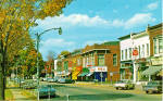 Port Allegany,Pennsylvania,Downtown, US 6,Cars 50s, Drug Store,Shops