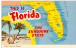 Click here to enlarge image and see more about item p30972: State Map of Florida