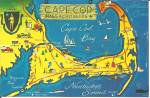 Map of Cape Cod Massachusetts p31196