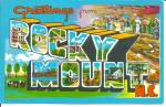Click here to enlarge image and see more about item p31203: Big Letter Postcard of Rocky Mount, North Carolina