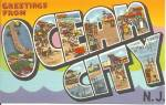 Big Letter Postcard Ocean City New Jersey p31327