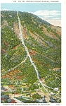 Incline Railway  Mt Manitou CO Postcard