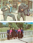 Click here to enlarge image and see more about item p3195: Amish Men and Women Postcard Lot 2