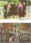 Click here to enlarge image and see more about item p3196: Amish Teacher and Children Postcard Lot 2