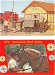Amish Horse and Buggy Postcard Lot of 2 p3199