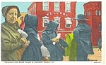 Click here to enlarge image and see more about item p3200: Amish People of Lancaster PA Postcard