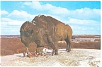 Click here to enlarge image and see more about item p3208: World's Largest Buffalo, Jamestown ND Postcar