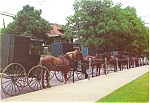 Click here to enlarge image and see more about item p3218: Amish Buggies Millersville OH Postcard