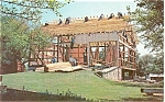 Click here to enlarge image and see more about item p3226: Amish Barn Raising Postcard