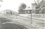 Click here to enlarge image and see more about item p3362: D and H Fairview Rail Road Depot Postcard p3362