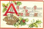 Christmas 1911 Divided Back Card p33685