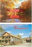 Click here to enlarge image and see more about item p3399: Pennsylvania Covered Bridges Postcard Lot of 2 p3399
