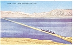 Southern Pacfic Train On Lucin Cutoff  Postcard p3408