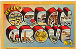 Big Letter Postcard Ocean Grove New Jersey p34302