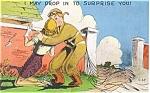 WWII Parachutist Postcard