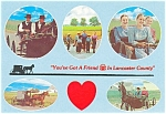 Click here to enlarge image and see more about item p3436: Amish Scenes Lancaster County PA Postcard