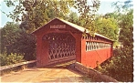Click here to enlarge image and see more about item p3440: Covered Bridge Manchester   VT Postcard