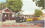 Conch Tour Train Key West FL Postcard