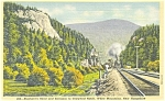 Steam Train in Crawford Notch NH Postcard p3529